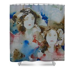 Sisters Shower Curtain by Donna Acheson-Juillet