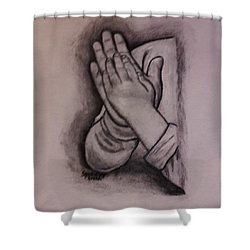 Sisters' Hands Shower Curtain by Christy Saunders Church