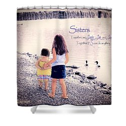 Sisters Shower Curtain by Tom Schmidt