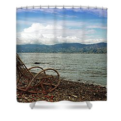 Sit Back And Enjoy Shower Curtain