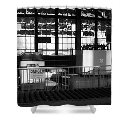 Site With Danger Sign  Shower Curtain