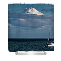 Shower Curtain featuring the photograph Sittin By The Bay by Onyonet  Photo Studios