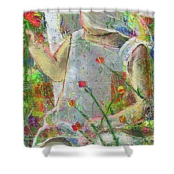 Sitting A Spell... Shower Curtain