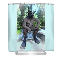 Sitting Bull Shower Curtain by Joaquin Abella