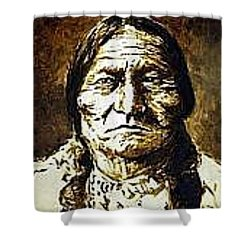 Sitting Bull Shower Curtain by Kevin Heaney