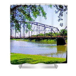 Shower Curtain featuring the photograph Sitting In Fort Benton by Susan Kinney