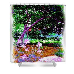 Shower Curtain featuring the painting Sitting In The Shade by Patricia Griffin Brett