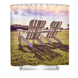 Shower Curtain featuring the photograph Sitting In The Sun by Debra and Dave Vanderlaan