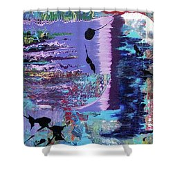 Sittin' On The Dock Of The Bay Wastin' Time Shower Curtain