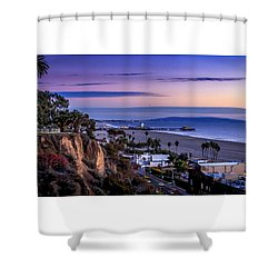 Sitting On The Fence - Santa Monica Pier Shower Curtain