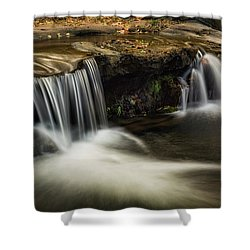 Shower Curtain featuring the photograph Sitting Under The Waterfall  by Saija Lehtonen