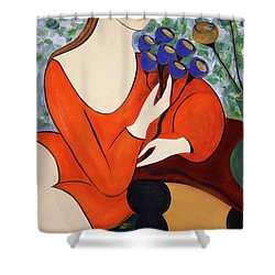Sitting Women Shower Curtain