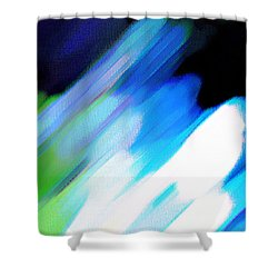 Shower Curtain featuring the painting Sivilia 10 Abstract by Donna Corless