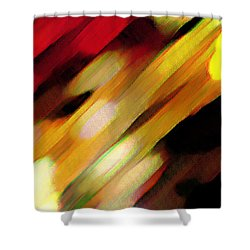 Shower Curtain featuring the painting Sivilia 11 Abstract by Donna Corless