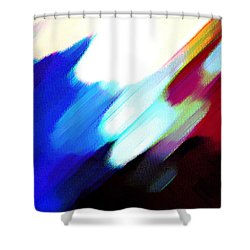 Shower Curtain featuring the painting Sivilia 12 Abstract by Donna Corless