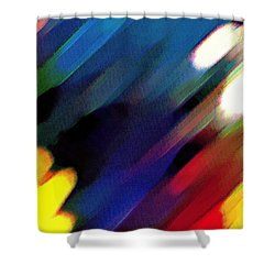 Shower Curtain featuring the painting Sivilia 4 Abstract by Donna Corless