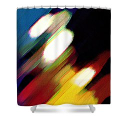 Shower Curtain featuring the painting Sivilia 5 Abstract by Donna Corless