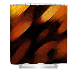 Shower Curtain featuring the painting Sivilia 7 Abstract by Donna Corless