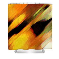 Shower Curtain featuring the painting Sivilia 8 Abstract by Donna Corless