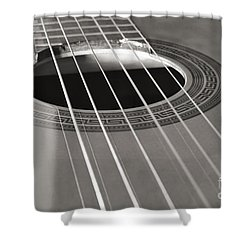 Six Guitar Strings Shower Curtain