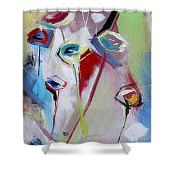 Six Poppies  Shower Curtain by John Jr Gholson