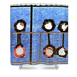 Six Punches Shower Curtain