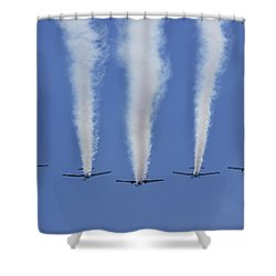 Shower Curtain featuring the photograph Six Roolettes In Formation by Miroslava Jurcik