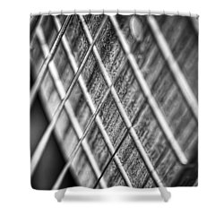 Six Strings Shower Curtain by Scott Norris