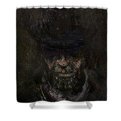 Sixteen  Shower Curtain by Antonio Ortiz