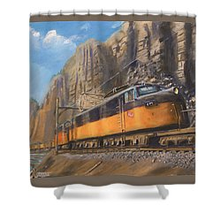 Sixteen Mile Canyon Shower Curtain by Christopher Jenkins