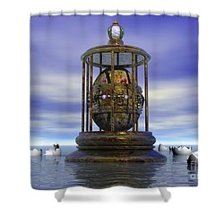 Sixth Sense - Surrealism Shower Curtain