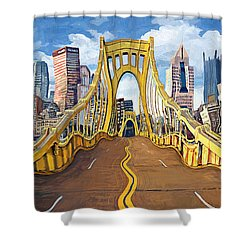 Sixth Street Bridge, Pittsburgh Shower Curtain