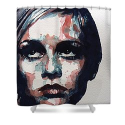 Sixties Sixties Sixties Twiggy Shower Curtain by Paul Lovering