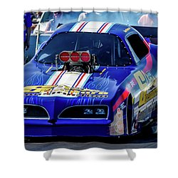 Sizemore Construction Pontiac Funny Car Shower Curtain
