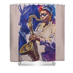 Sizzlin' Sax Shower Curtain