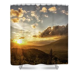 Skagit Valley Sunset Shower Curtain