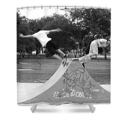 Skate Ballet Shower Curtain by Beto Machado