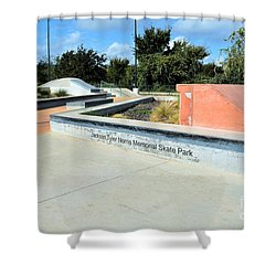 Shower Curtain featuring the photograph Skate Park by Ray Shrewsberry