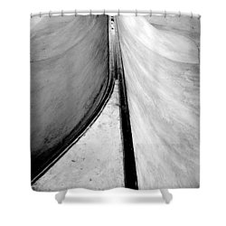 Skateboarding Shower Curtain by Kenneth Carpenter