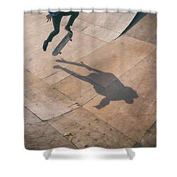 Skater Boy 001 Shower Curtain