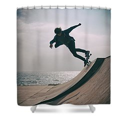 Skater Boy 007 Shower Curtain
