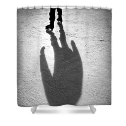Skater Shower Curtain by Dave Bowman