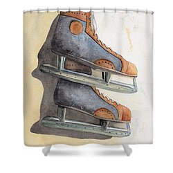 Skates Shower Curtain by Ken Powers