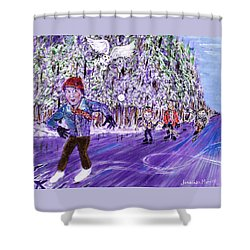 Skating On Thin Ice Shower Curtain