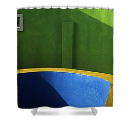 Skc 0305 The Fundamental Colors Shower Curtain by Sunil Kapadia