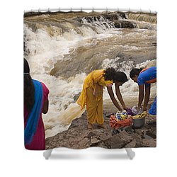Skc 2621 A Collective Task Shower Curtain by Sunil Kapadia