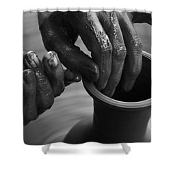Skc 3471 Finer Touches Shower Curtain by Sunil Kapadia