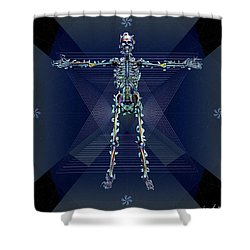 Skeletal System Shower Curtain by Iowan Stone-Flowers