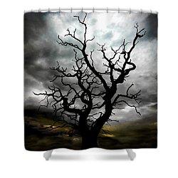 Skeletal Tree Shower Curtain