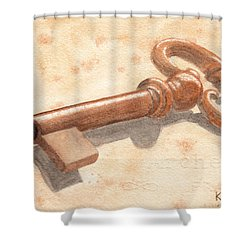 Skeleton Key Shower Curtain